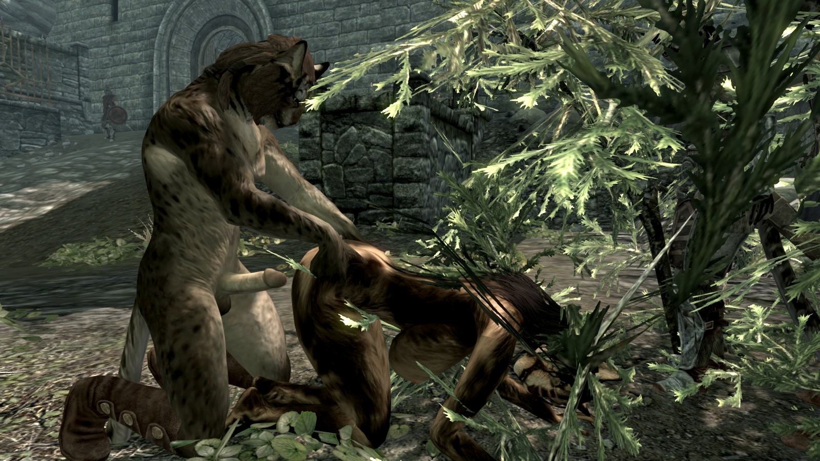 Skyrim khajiit rule 34 porno nasty breasts