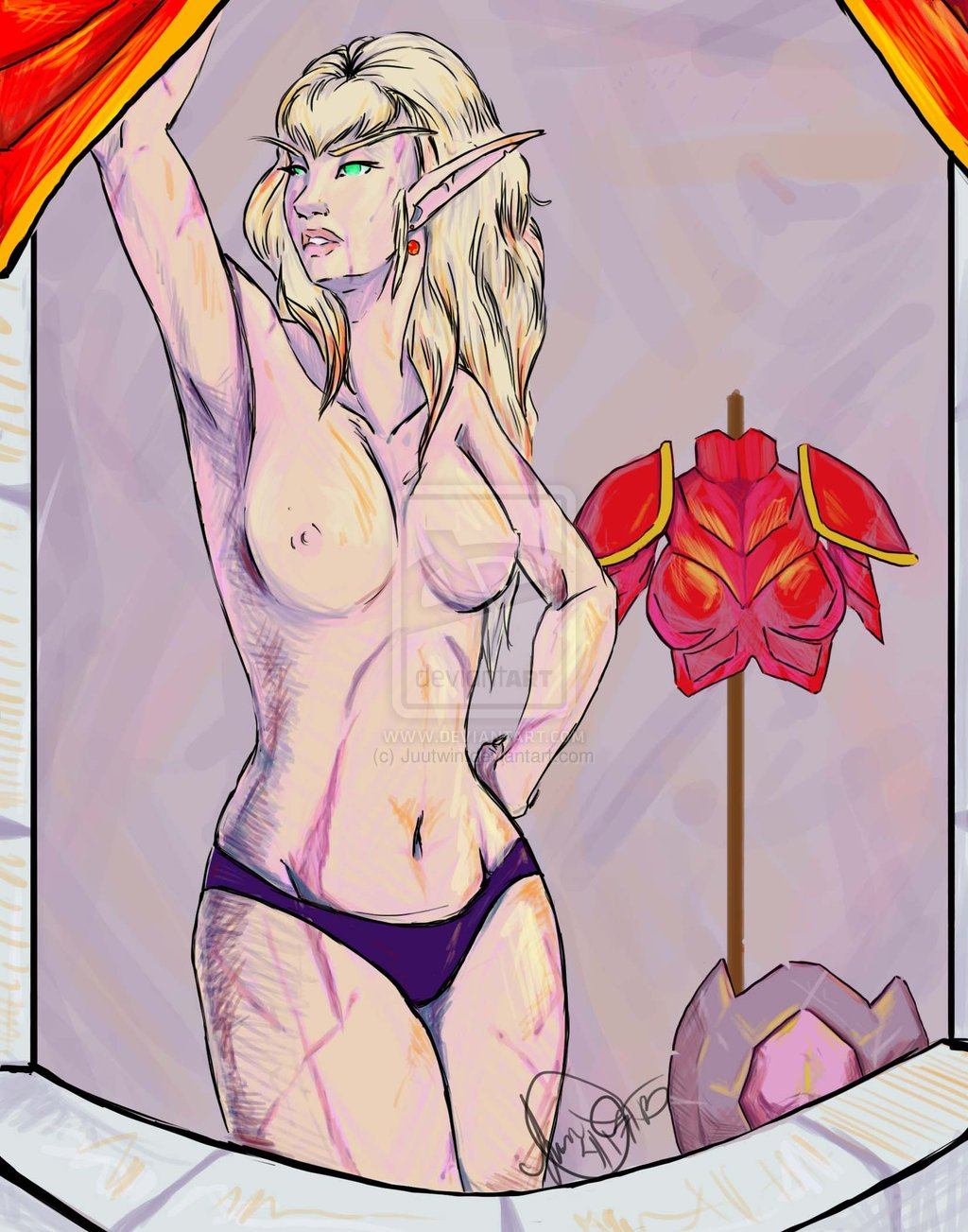 Blood elf rule 34 nsfw comics