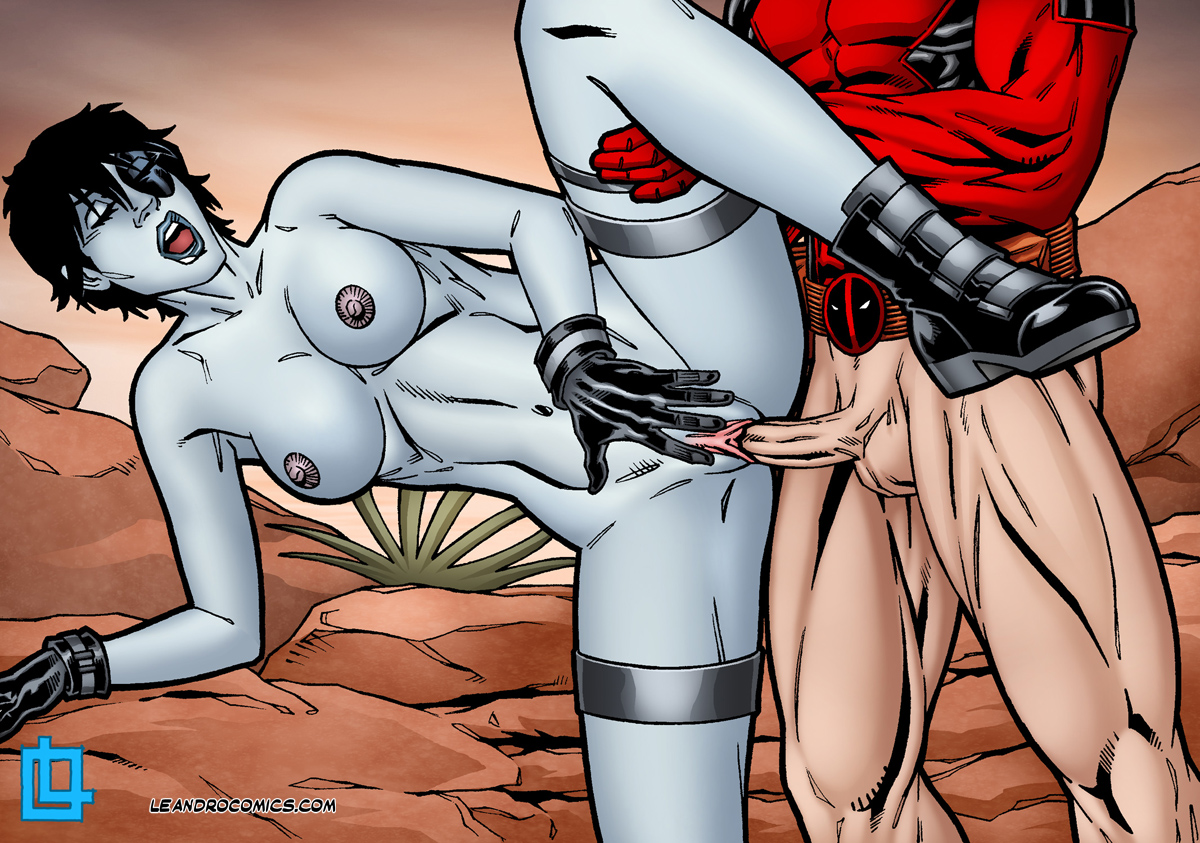 domino tits Deadpool hentai big