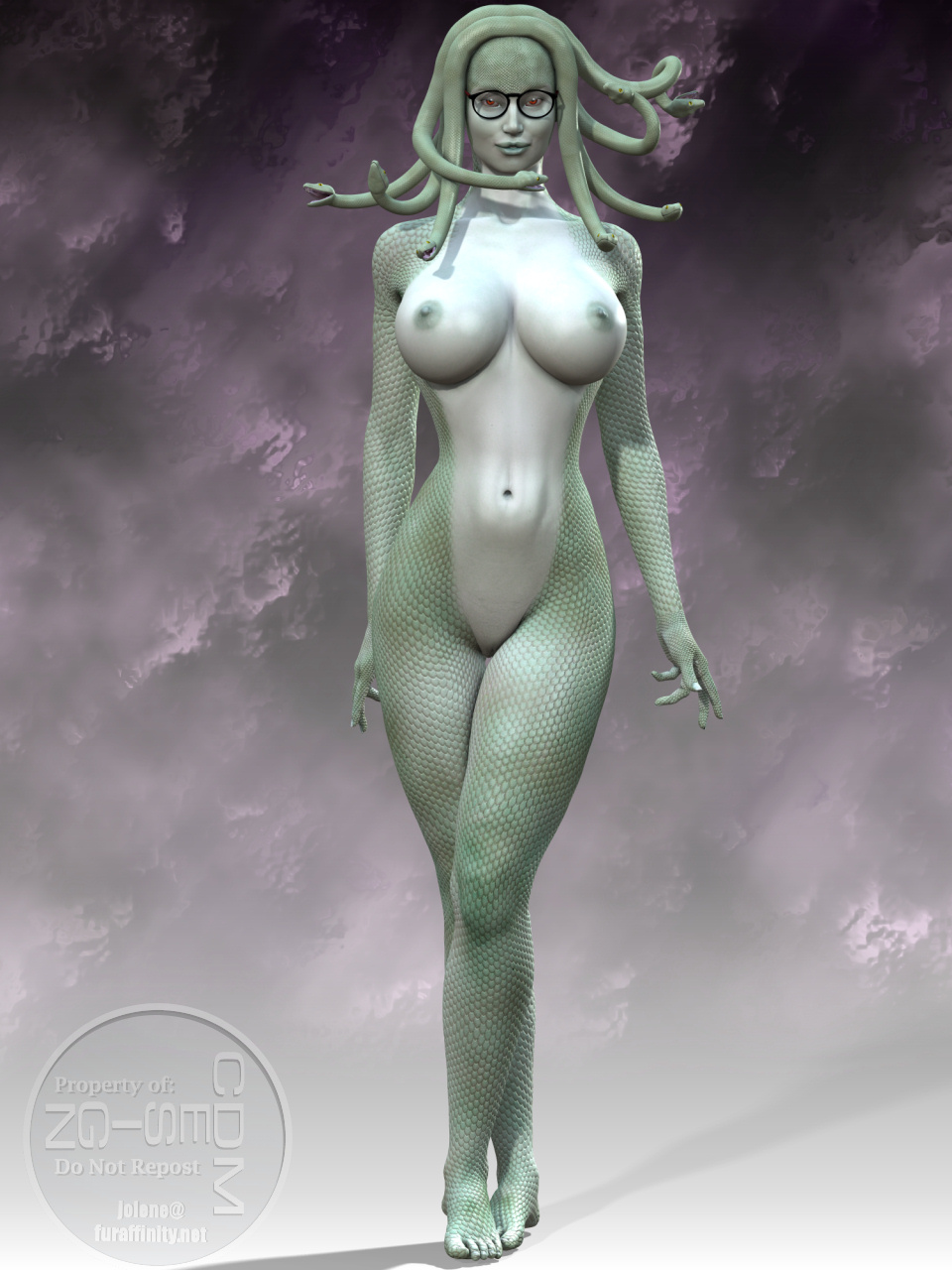 nackt Medusa Latex