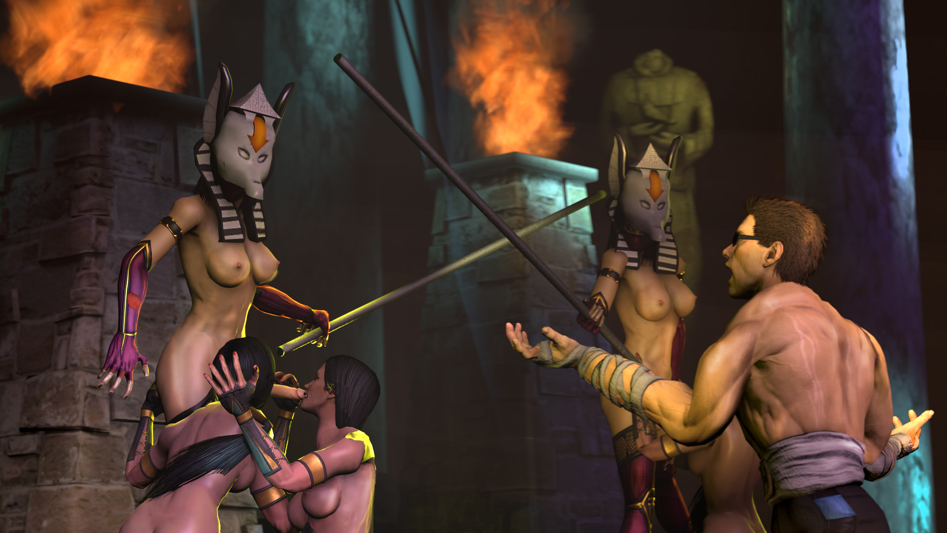 Секс мортал комбат пародия, Mortal Kombat xxx 3D Пародия. Джейд, Китана, Милена 1 фотография