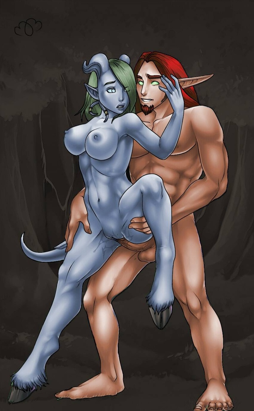 Nude blood elfs and draenei sexy scene