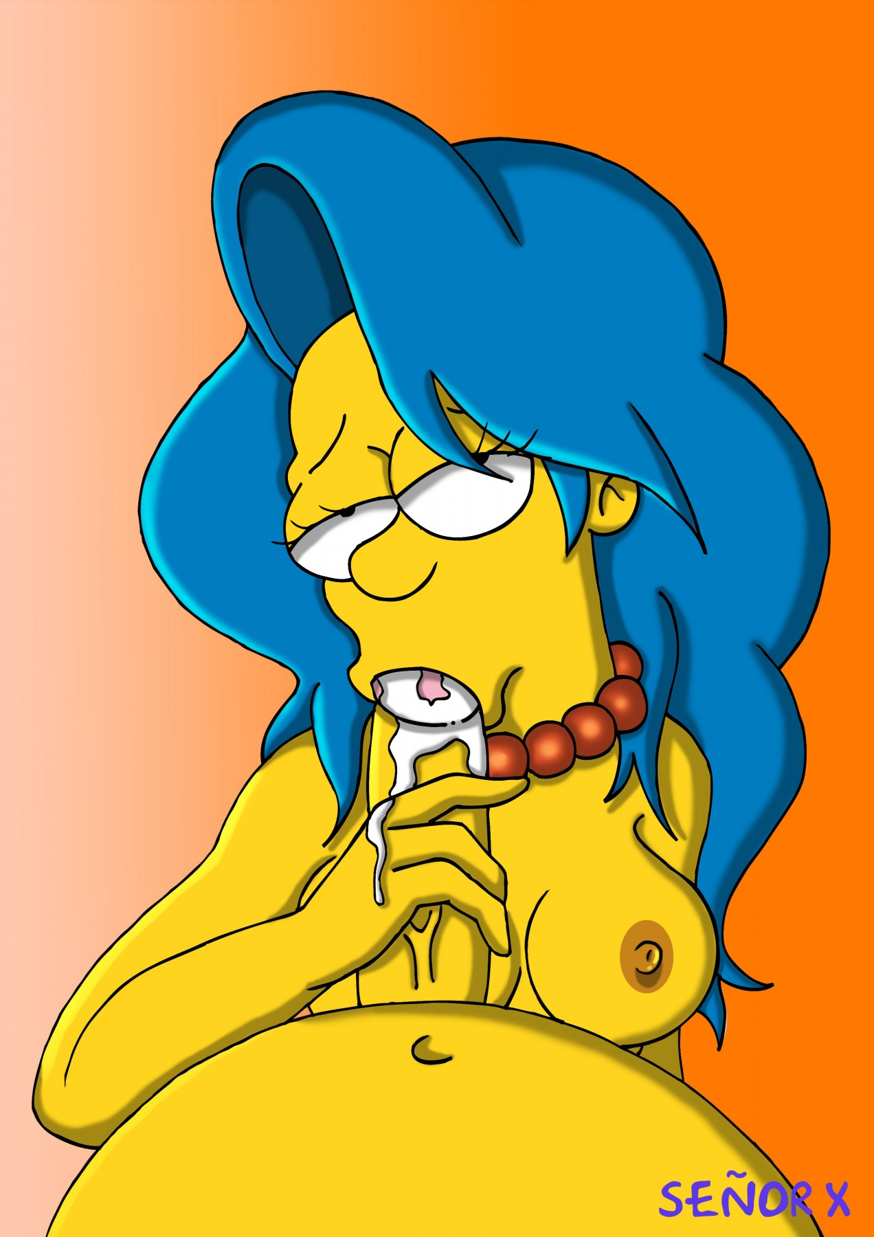 The simpsons irls characters horney nude, deep thorat blowjob