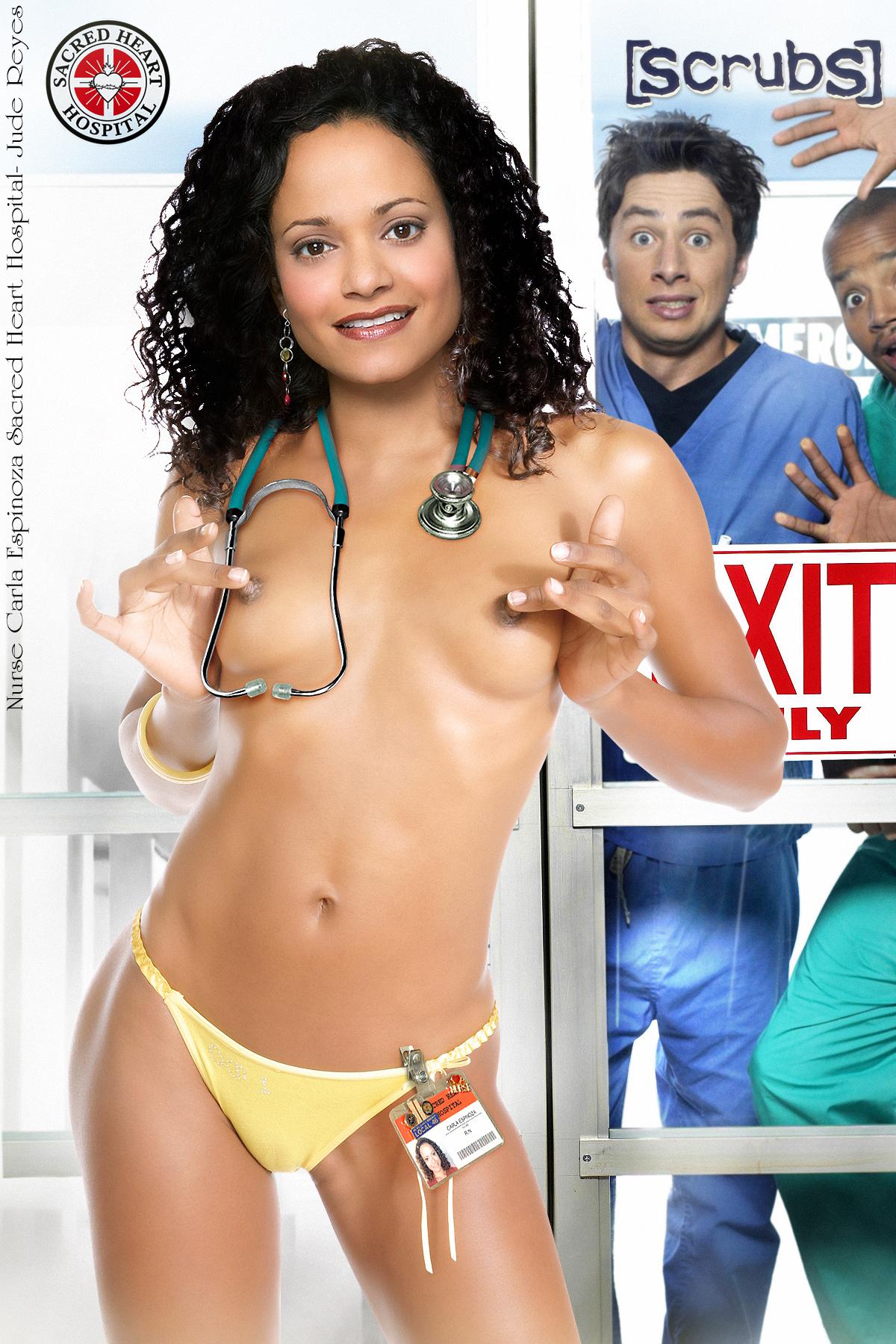 Carla i scrubs naked