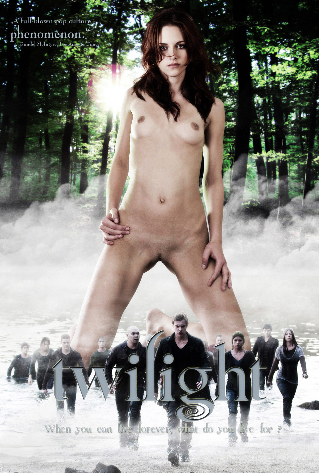 Self girl naked with twilight book