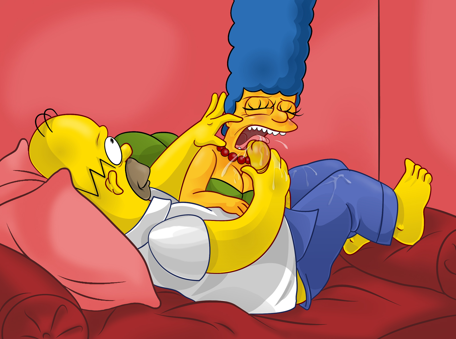 Marge Simpson Rimming Homer