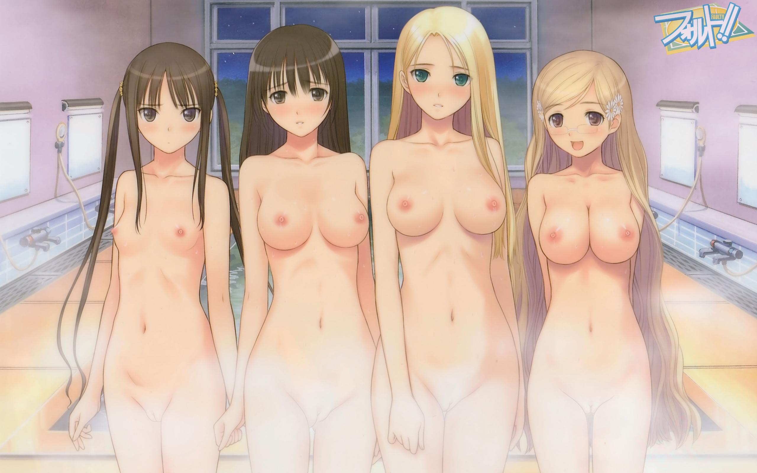 Полностью голые аниме