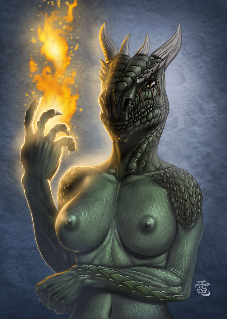 Nude female argonian — pic 4