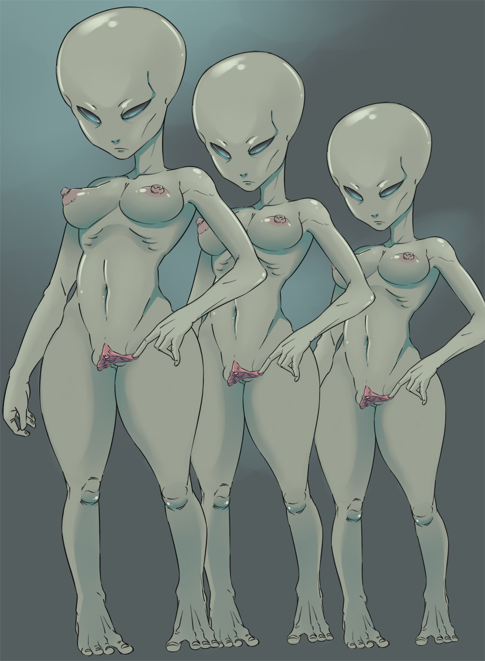 Sexy naked anime blue female aliens porno comic