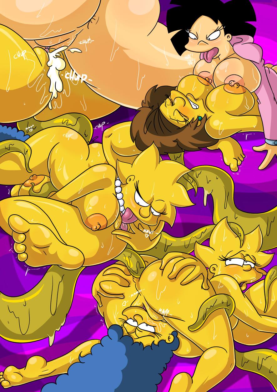 Симпсоны и футурама порно комикс 13 фотография