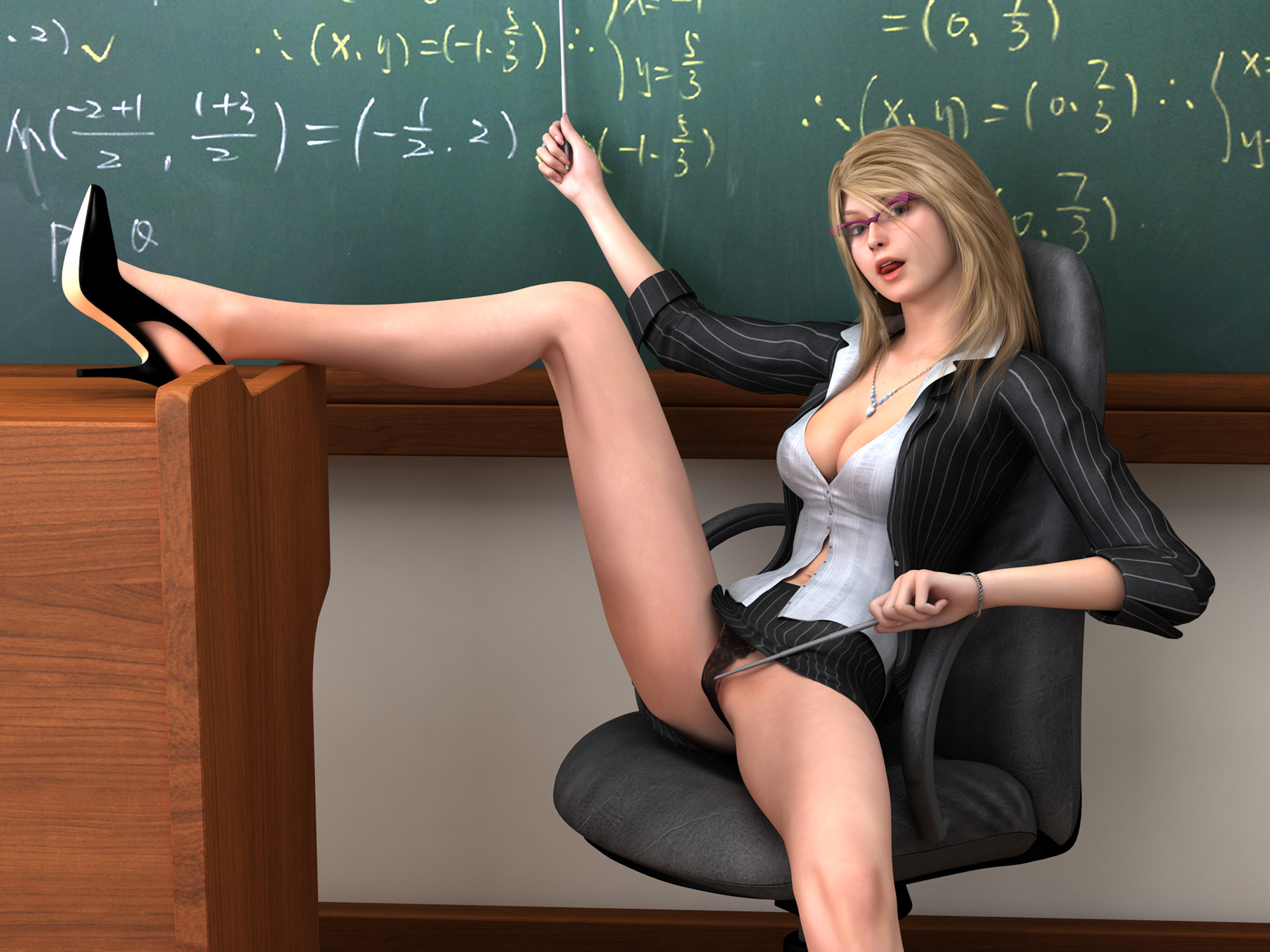 Teacher no panties