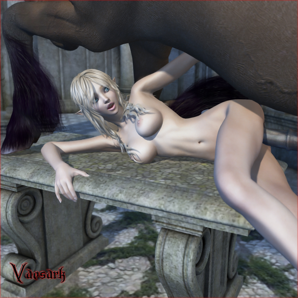 Unicorn and elf sex pron scene