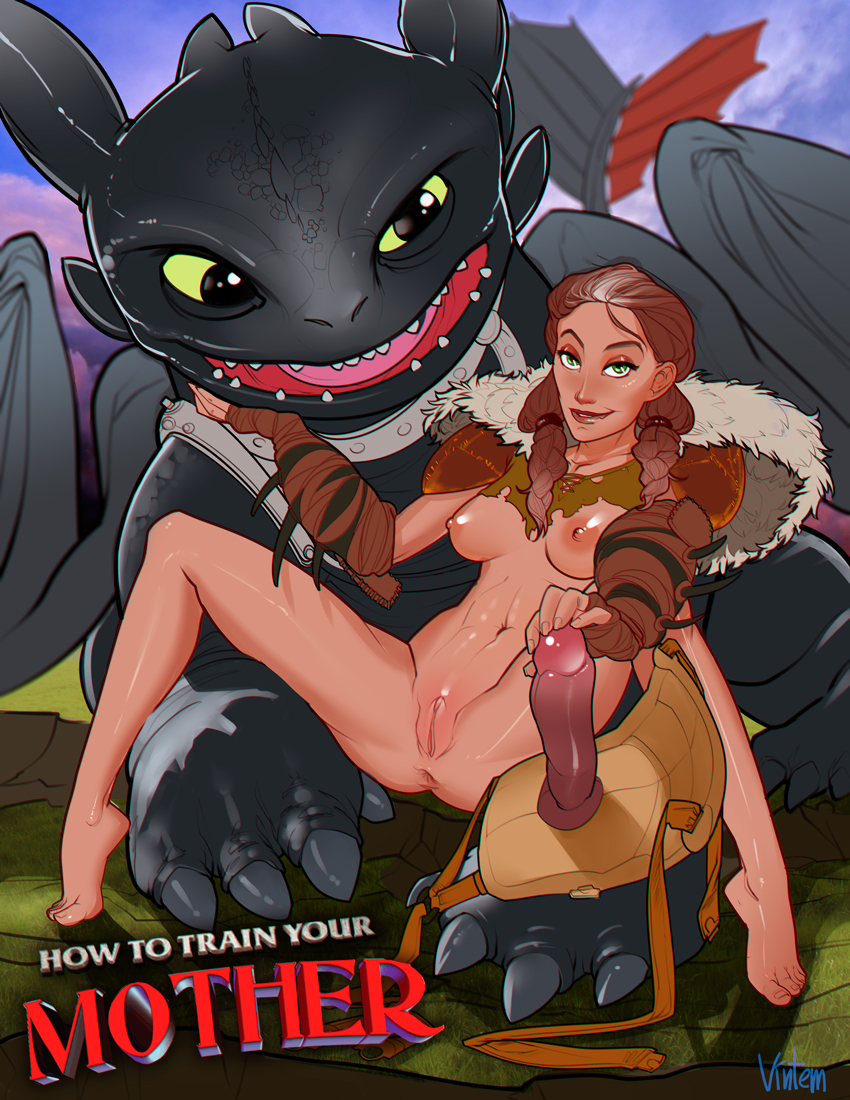 Cartoon dragon porn how to train your hentai clip