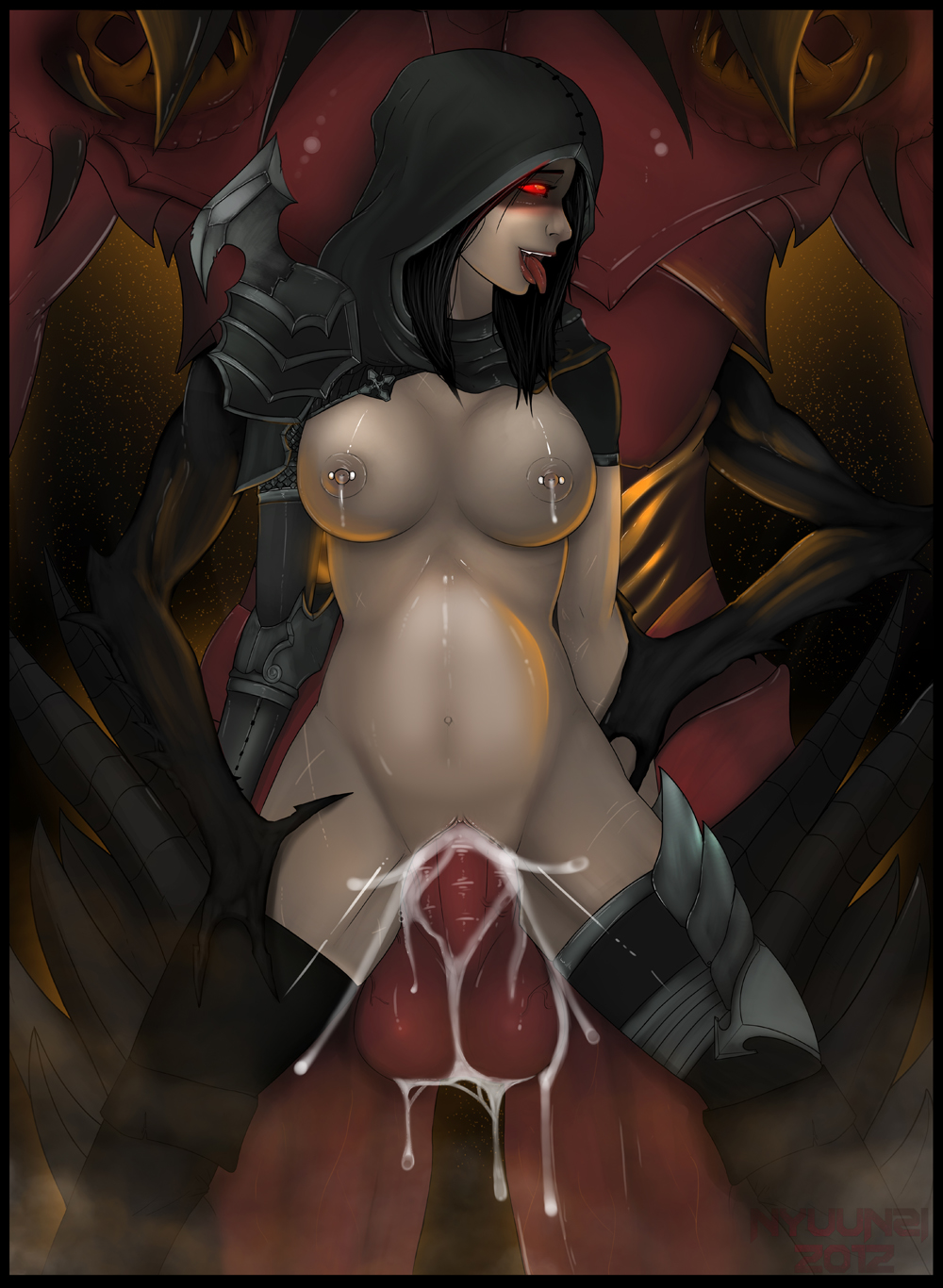 Sexy demon nude