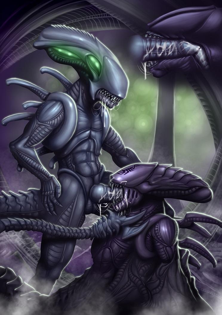 Порно чужие и хищник как
