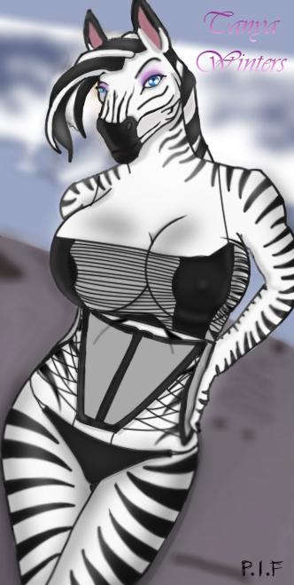 Zebra girl naked