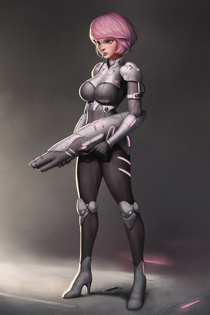science fiction breasts
