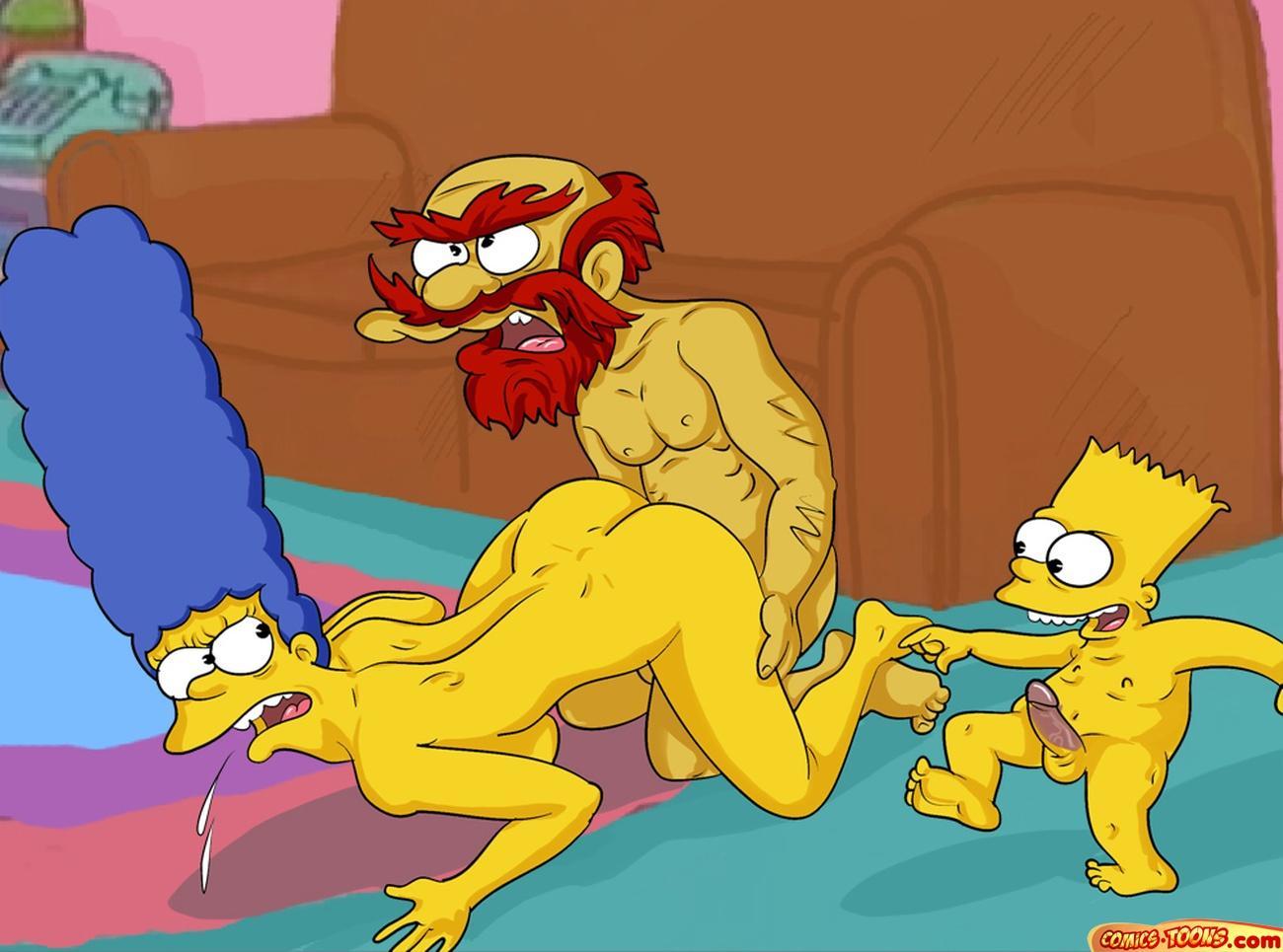 трахает секс мультики мардж комикс барт