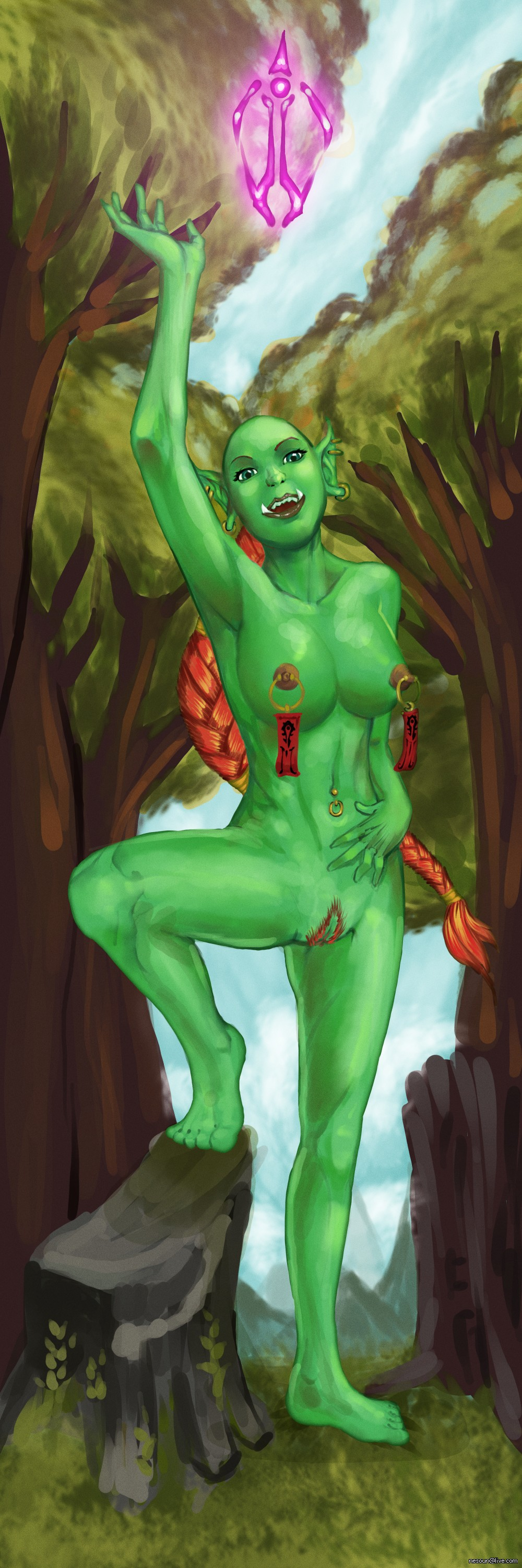Hot naked world of warcraft orcs nude image
