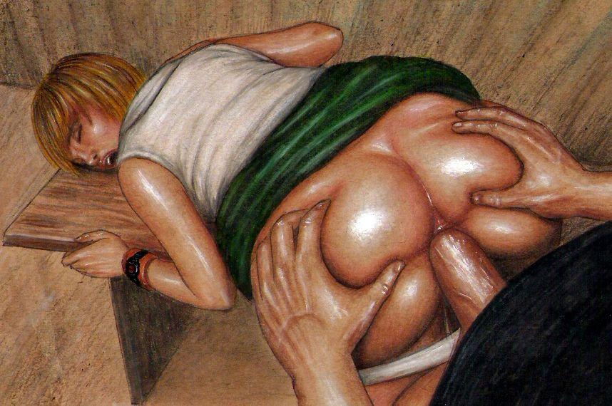 Girl anal fist