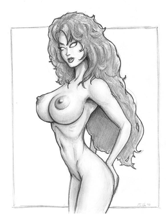 девушка рисунки голая