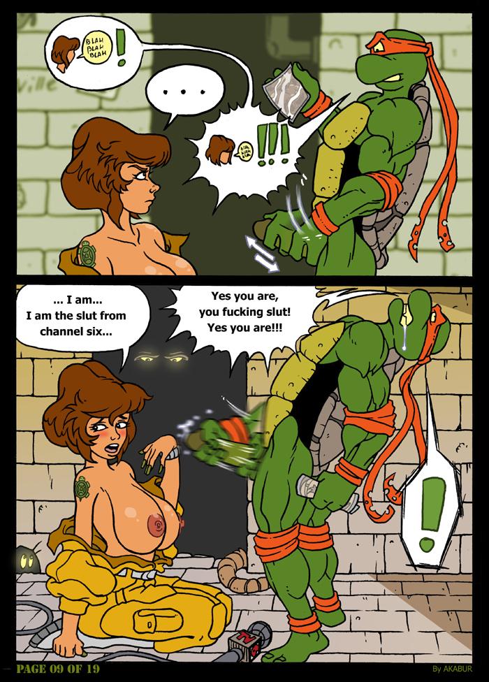 Порно комикс черепашки