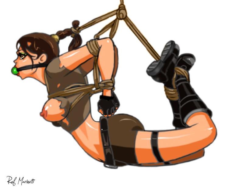 Lara croft forest bondage fuck