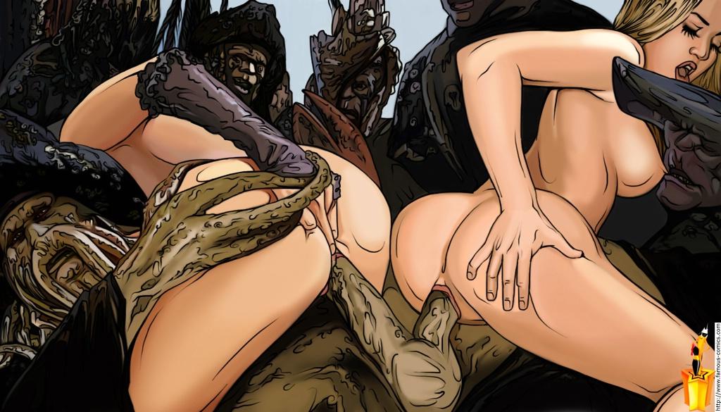 Порно пираты трахают девушек #15