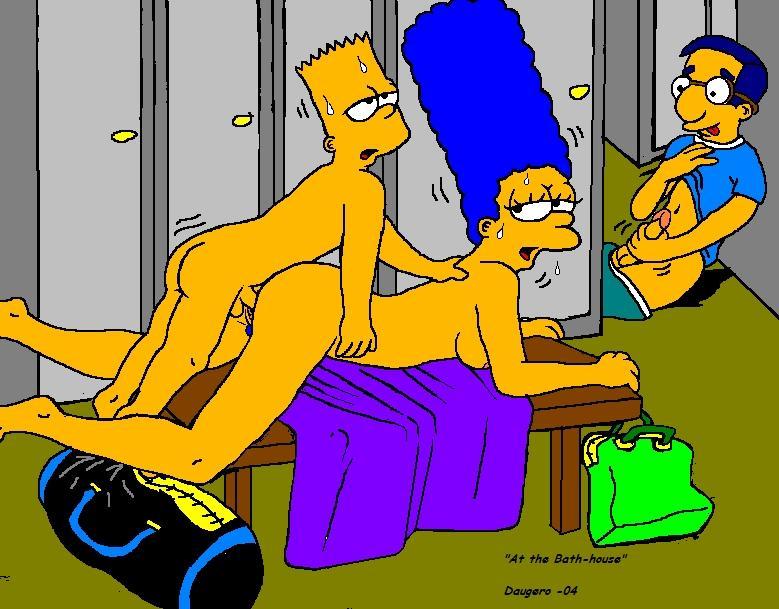 секс барта с мардж симпсон