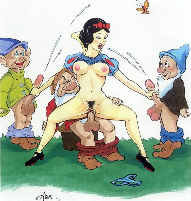 Порно картинки гном и белоснежка