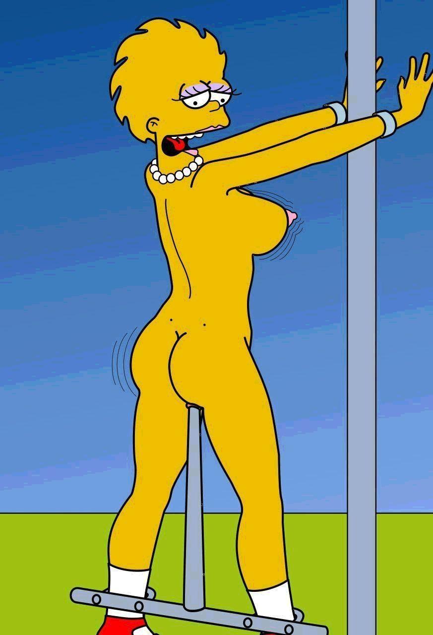 Lisa simpson nude shower, girl with butt plug