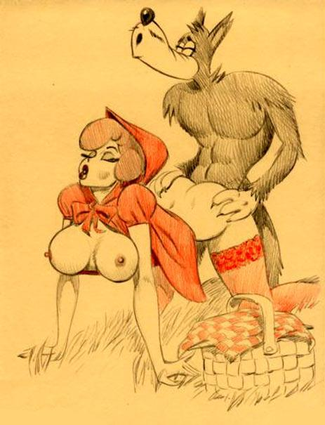 Красная шапочка порно бес