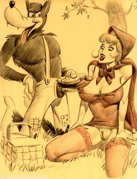 Порно сказки похождение красной шапочки, разрывают жопу двумя руками