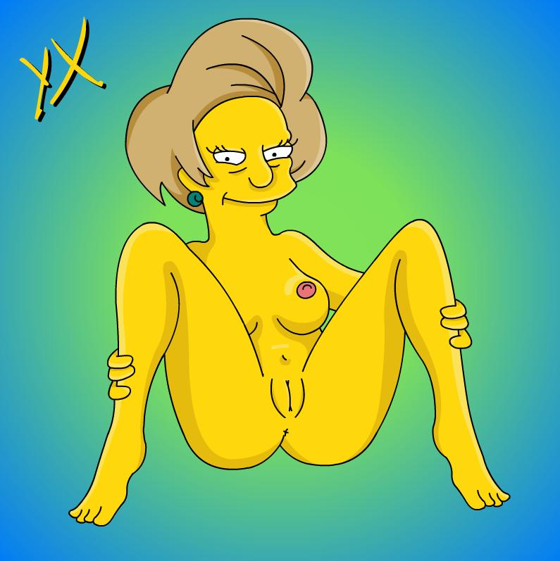 Mrs krabappel naked with dildo apologise, but