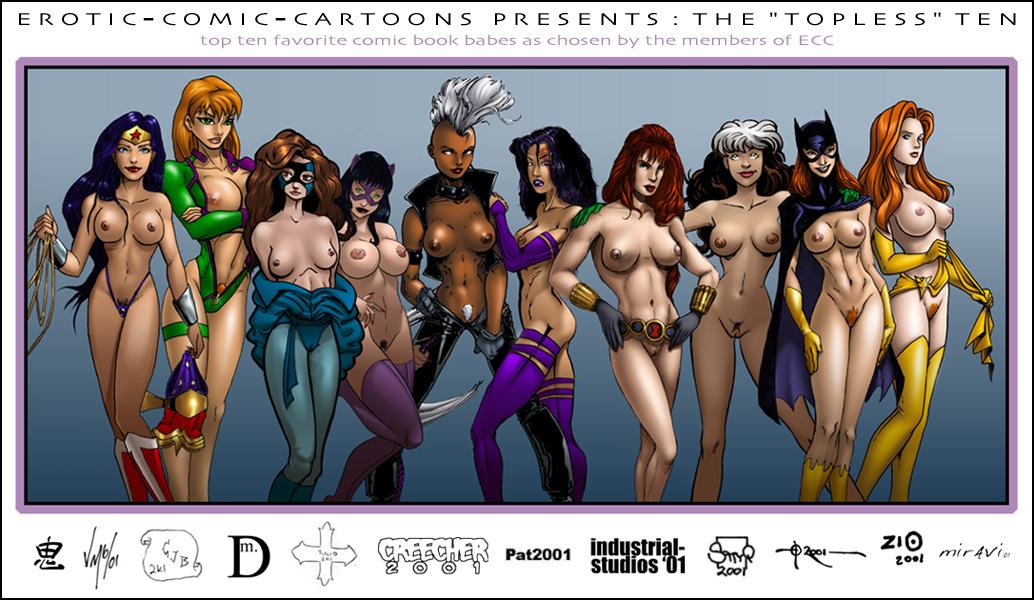 фото голых супер девушек из комиксов