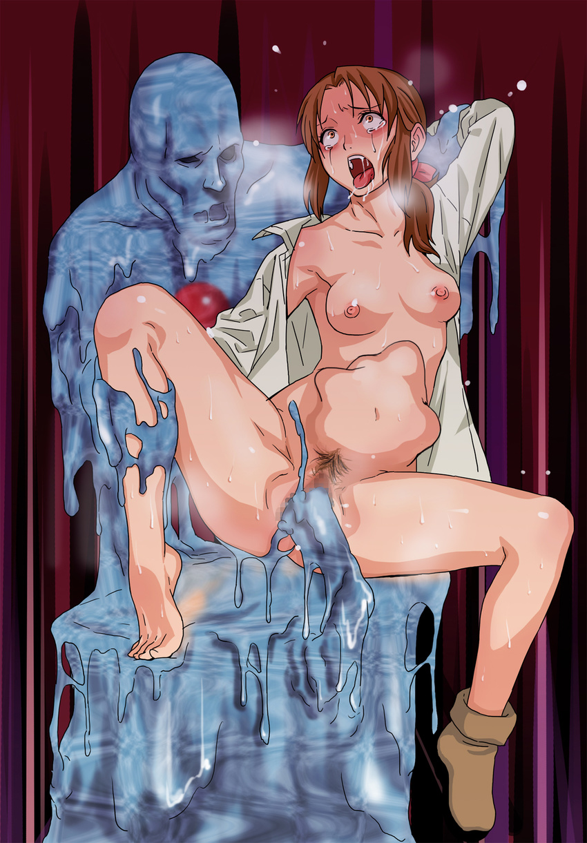Monster cartoon fucking a virgin girl porn  hentai scene