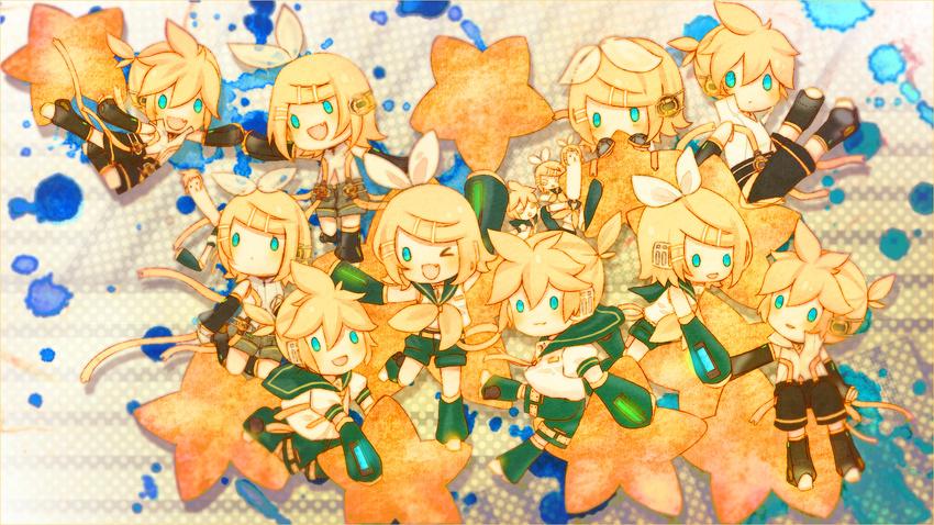 Rin and len chibi wallpaper