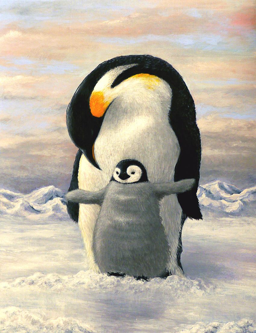 век пингвины на картинах художников предание, что название