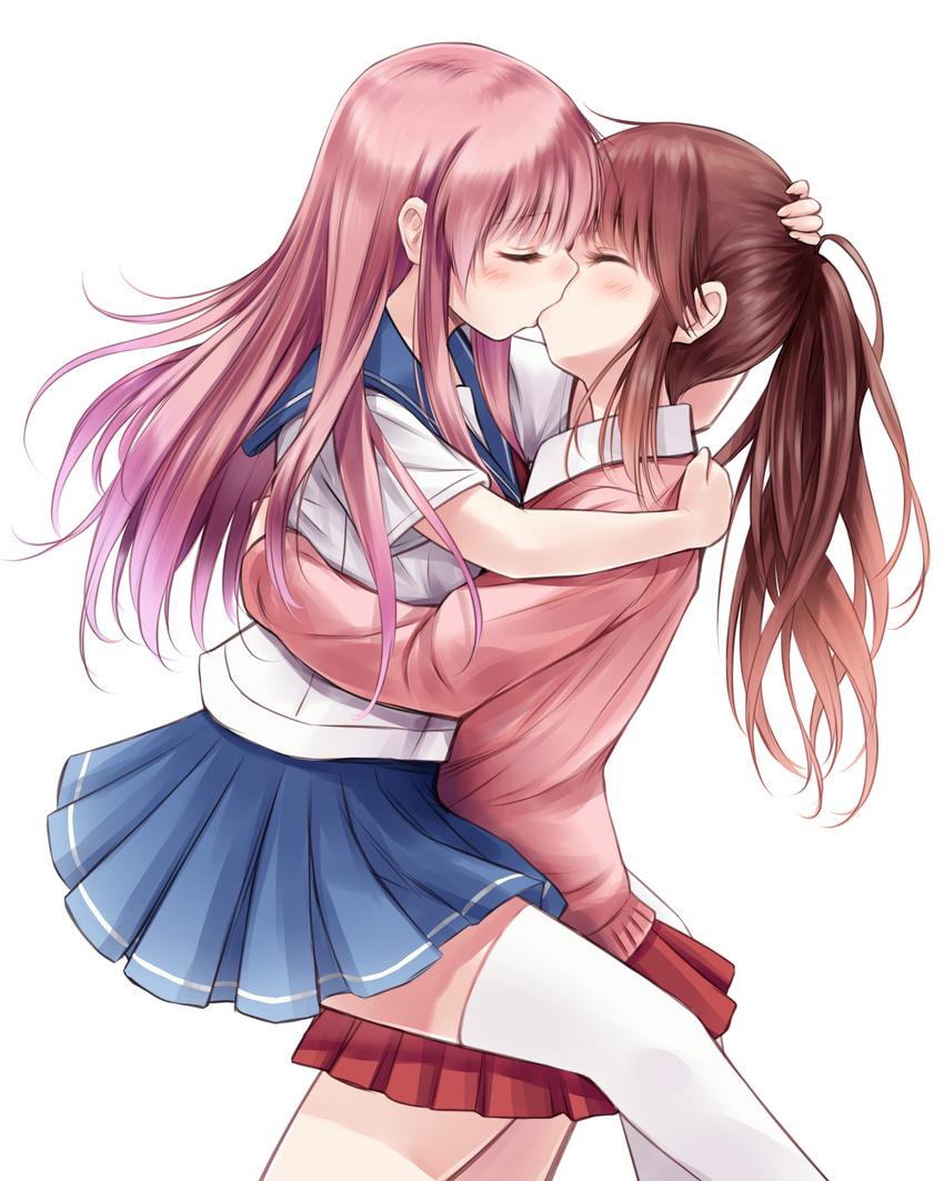Картинки целующихся девушек аниме