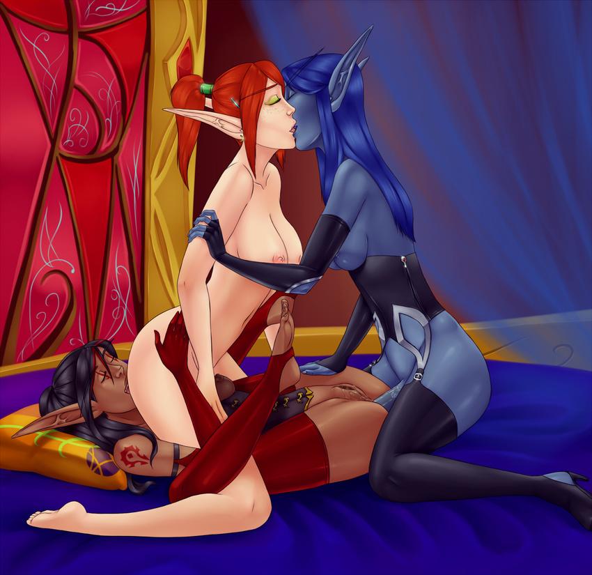 Blood elf nude skins adult lesbian beauties