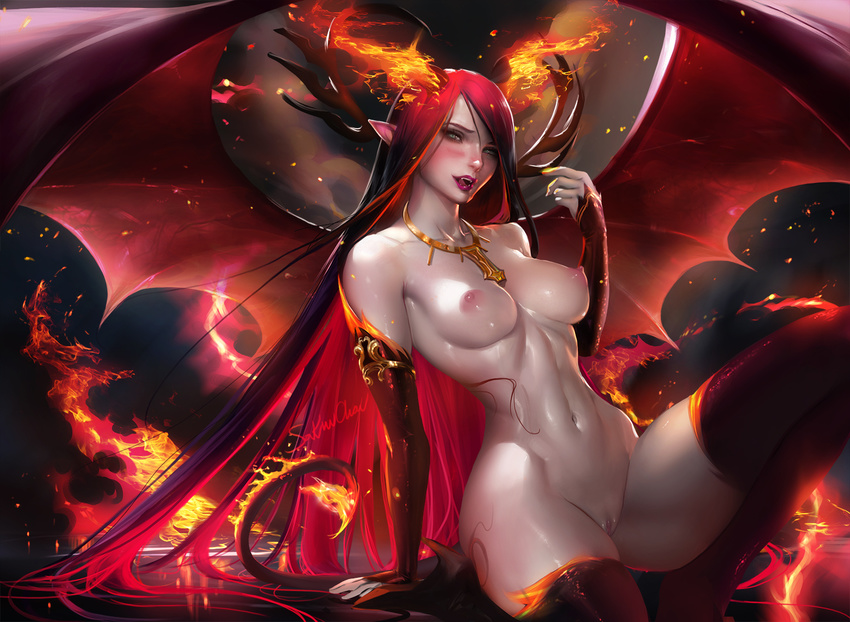 Sexy anime demon girls naked