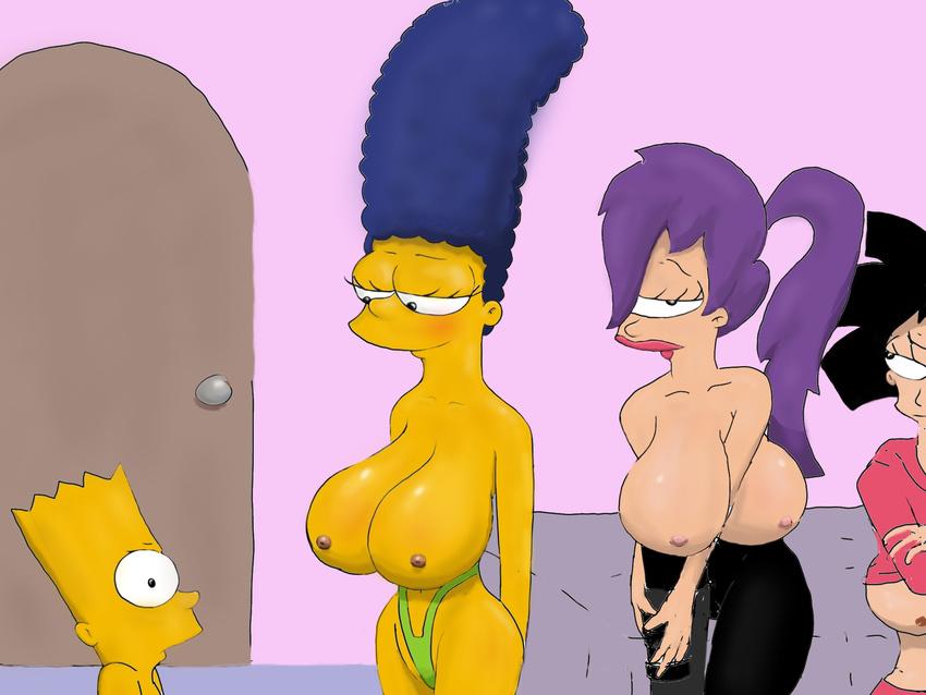 Порно фото симпсоны футурама