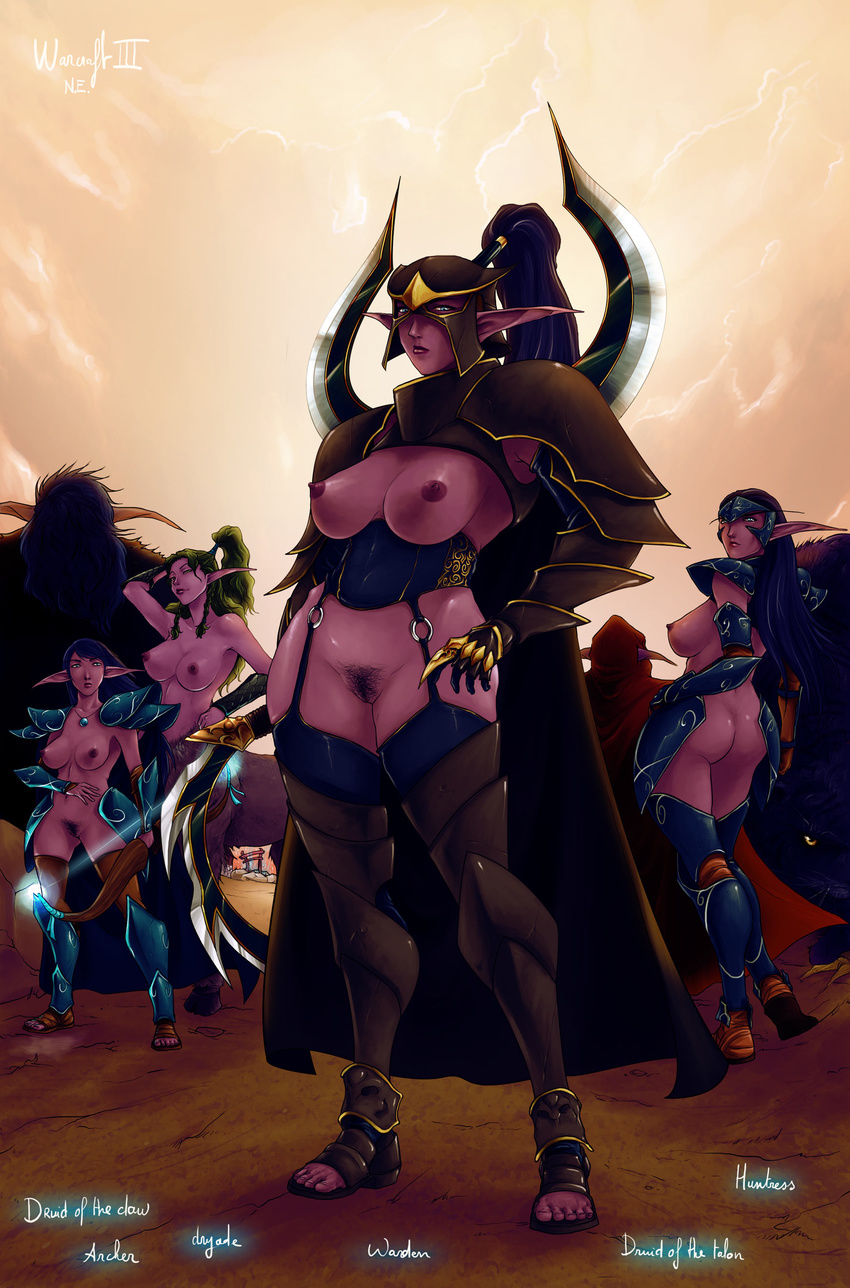 Curvy night elf anime image