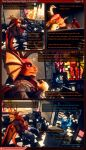 2018 3d_(artwork) animatronic bloom box camera chair chica_(fnaf) comic cupcake_(fnaf) dialogue digital_media_(artwork) dragon dragon-v0942 english_text fan_(disambiguation) five_nights_at_freddy's inside lagomorph machine male mammal mathew_kelly monitor odrios patreon pizzeria poster robot scalie security_camera source_filmmaker surveillance_camera tablet text video_games wings