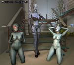 3d_(artwork) alien asari bdsm bondage bound breasts cartoons clothing digital_media_(artwork) female female/female footwear high_heels humanoid ladychi legwear liara_t'soni lingerie mammal mass_effect mature_(disambiguation) nude pornography pussy samara sex shoes slave source stockings video_games