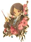 1girl dark_skin flower kaya kaya_(littlewitch) kaya_xavier kei_(artist) kei_(keigarou) littlewitch littlewitch_romanesque long_hair shoujo_mahou_gaku_little_witch_romanesque shoujo_mahou_gaku_littlewitch_romanesque solo twintails wand