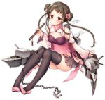 1girl alternate_costume azur_lane bangs bare_shoulders belt black_bodysuit black_hair black_legwear blush bodysuit braid breasts brown_eyes brown_skirt cannon chains china_dress chinese_clothes chinese_new_year cleavage cleavage_cutout closed_mouth covered_navel detached_sleeves double_bun dress expressions flower full_body hair_flower hair_ornament hairclip hat high_heels holding holding_instrument instrument kimberly_(azur_lane) knees_up legs_together long_sleeves multicolored_hair official_art opium_pipe parted_bangs pelvic_curtain pink_dress pink_flower pink_footwear pink_hair pleated_skirt rigging see-through sidelocks sitting skindentation skirt small_breasts smile solo sousouman tearing_up thighhighs thighs transparent_background twin_braids weapon