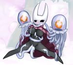 blush breasts cactuscacti cum cum_inside female hollow_knight hornet_(hollow_knight) nipples penetration tentacles vaginal vaginal_penetration