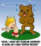 bear calvin calvin_and_hobbes english_text human pedobear sweat swimsuit