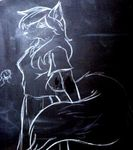 1996 canine chalk chalkboard close-up eurofurence eurofurence_#2 female fox photo real samuel_jirenius solo tail vintage